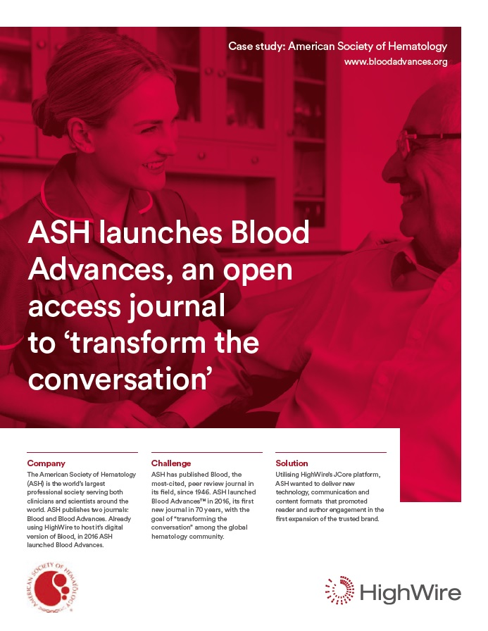 Case study - American Society of Hematology