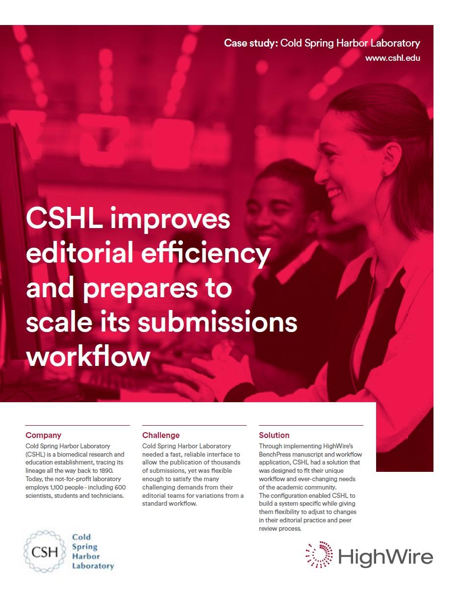 Case study - Cold Spring Harbor Laboratory