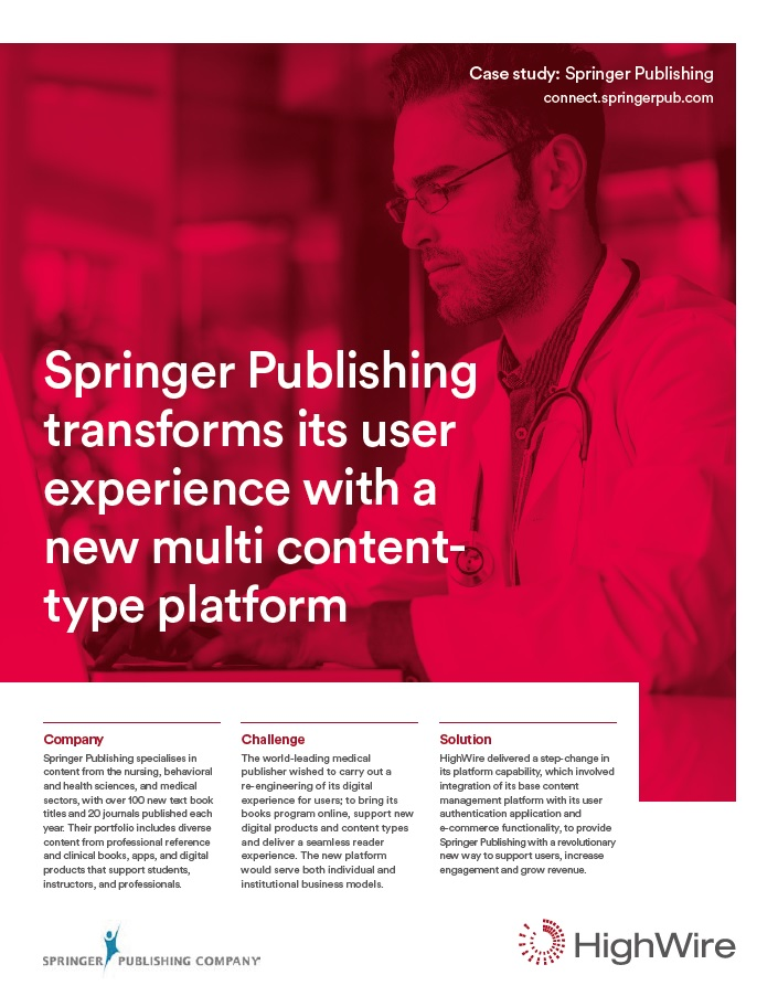 Springer Publishing case study