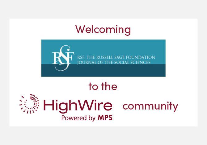 The Russell Sage Foundation picks HighWire's hosting platform