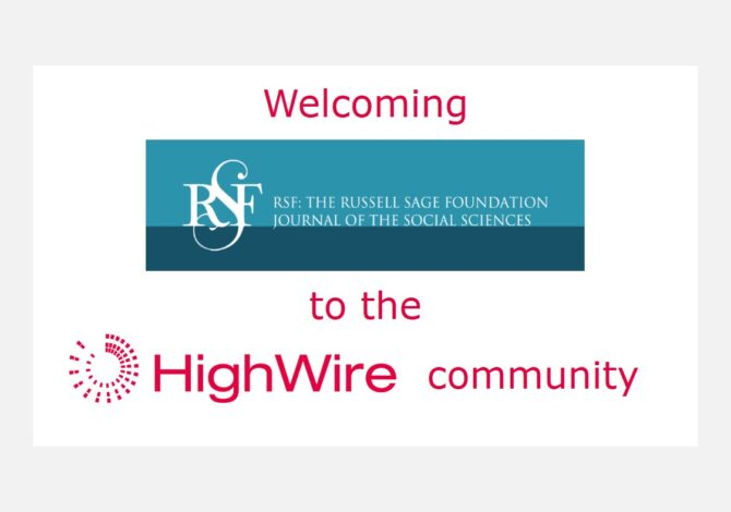 The Russell Sage Foundation picks HighWire's hosting platform