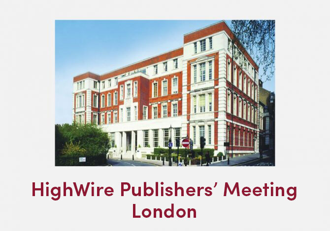 HighWire Publishers' Meeting – A taste of the day