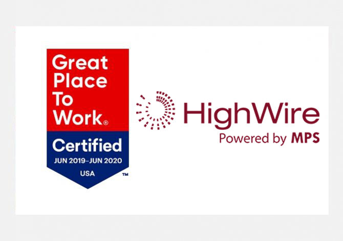 HighWire is a Great Place to Work-Certified™ company in 2019
