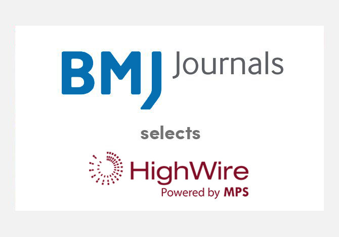 HighWire strengthens relationship with BMJ, delivering improved hosting and new joint innovation lab