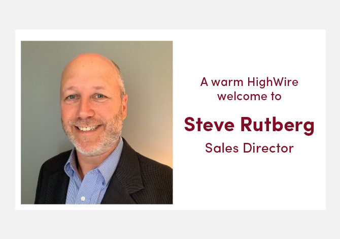 HighWire further strengthens customer focus with appointment of Steve Rutberg as Sales Director