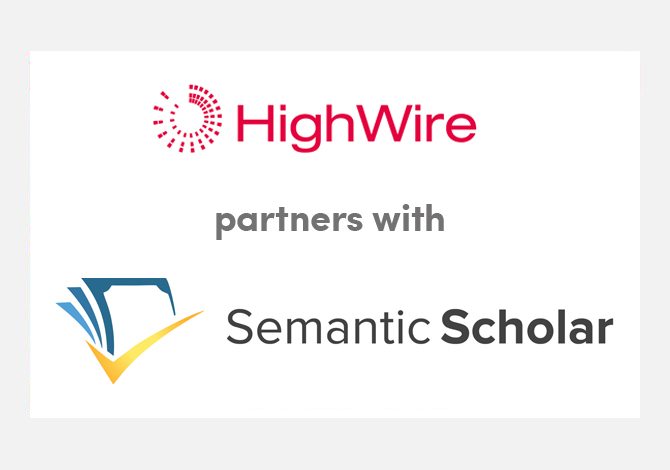 HighWire and Semantic Scholar partner to enhance article discovery