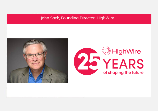 HighWire at 25: John Sack looks back