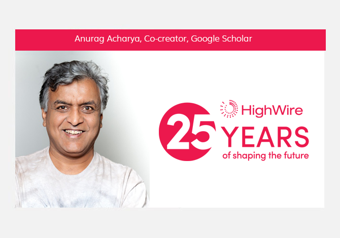 HighWire at 25: Anurag Acharya (Google Scholar) looks back
