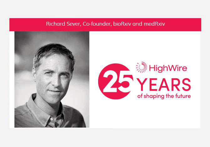 HighWire at 25: Richard Sever (bioRxiv) looks back
