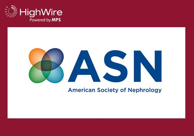 American Society of Nephrology Renews Journal Hosting on HighWire's JCore Platform