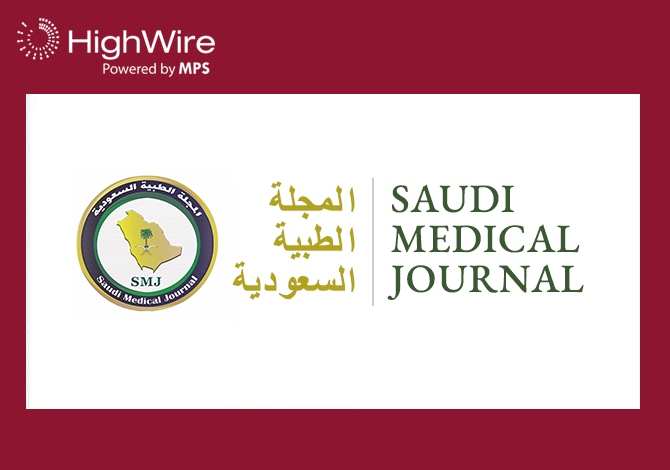 HighWire expands global footprint into the Middle East with Saudi Medical Journal